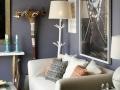 Wohnzimmer mit gesunder Lehmfarbe