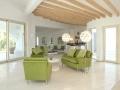 Wohnzimmer mit Kaseinfarbe von KREIDEZEIT