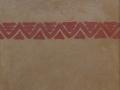 """Muestra de estuco de arcilla con barro local y Pintura de Arcilla """"roja"""" KREIDEZEIT"""