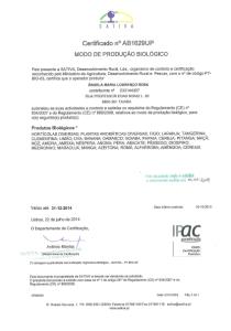 Certificado BIO paja