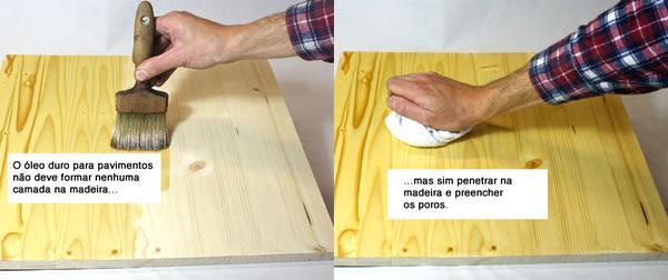 óleo de madeira